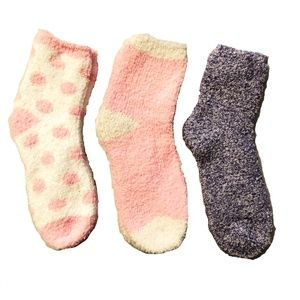 Ellen Tracy Fuzzy Socks For Women (3 Pair)